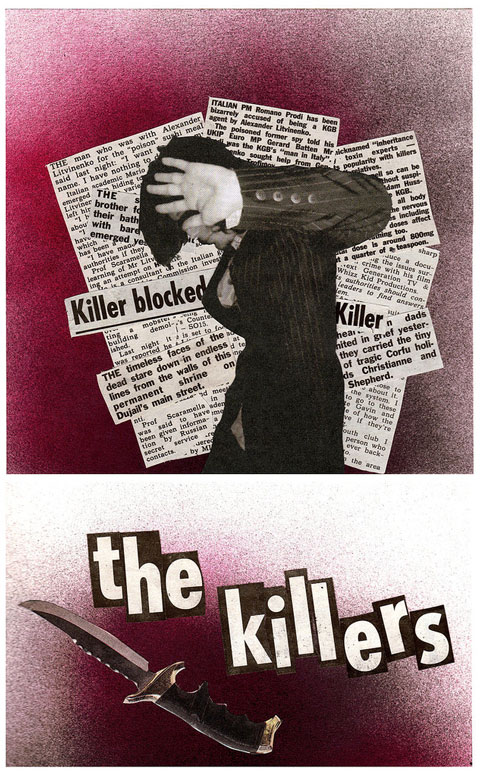 Killers illustration/collage by Tom Colmans